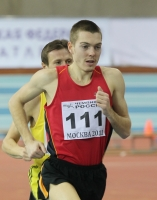 Valentin Smirnov. Silver medallist at Russian Indoor Championships 2011 at 3000m